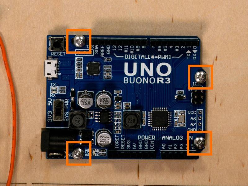 Screw in the Arduino