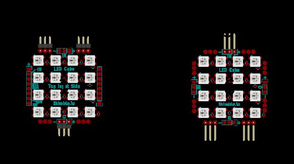 LED Cube PCB connection diagram 2