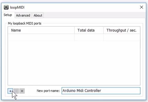 A custom name for the loopMIDI port