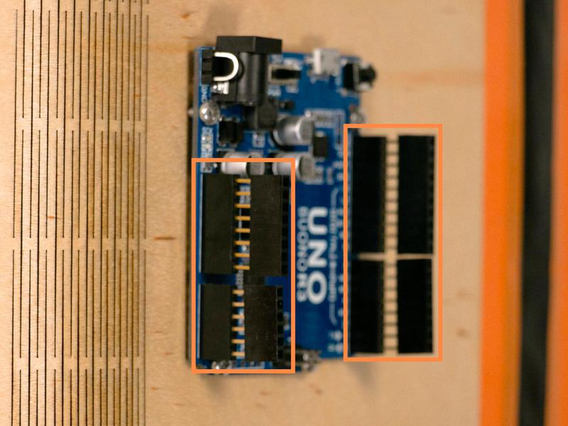 Attach the remaining headers to the Arduino