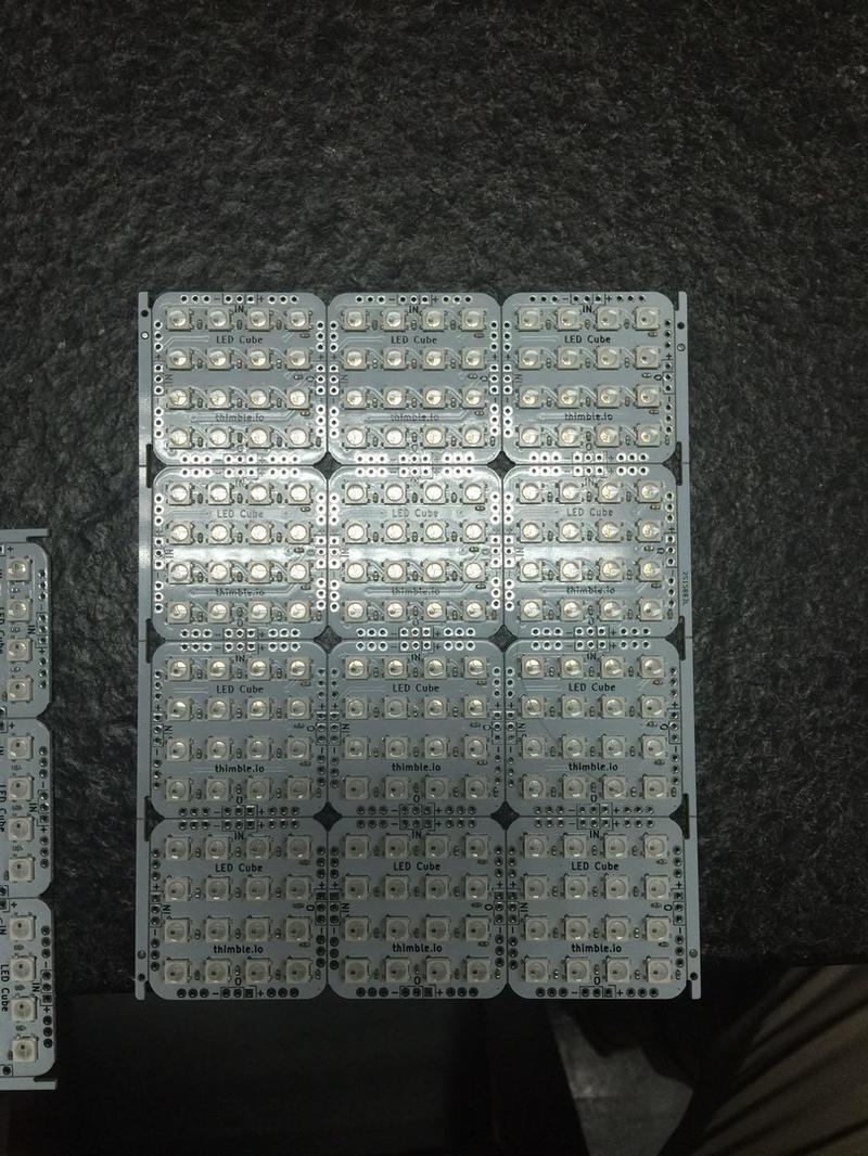 LED Cube PCB Panel